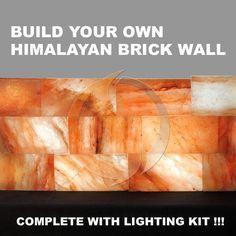 Himalayan Salt Brick Wall with Lighting Kit - 10 Bricks, Spiritual Quest - Himalayan Salt Cave, Massage Room, Cool Kitchens, Meditation, Applique, Vintage, Bricks
