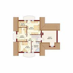 DOM.PL™ - Projekt domu DA Gracjan CE - DOM DS1-01 - gotowy koszt budowy Model House Plan, House Plans, Küchen Design, Home Fashion, Modern House Design, Floor Plans, How To Plan, Architecture, House Styles
