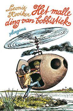 Leonie Kooiker - Het Malle Ding Van Bobbistiek || Ploegsma 1970, 192 pagina's || Gouden Griffel 1971 || Het is helemaal niet de bedoeling om knetterharde bobbistiek te maken, maar als de jongens er hun eivormige schip mee bestreken hebben, kunnen de avonturen beginnen. || http://www.bol.com/nl/p/het-malle-ding-van-bobbistiek/1001004007525682/