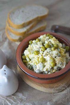 Przepisy na Wielkanoc - przepisy na sałatki, dania obiadowe i jajka Quesadilla, Feta, Salad Recipes, Food And Drink, Rice, Cooking Recipes, Cheese, Blog, Easter Activities