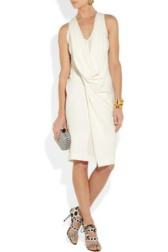 Donna Karan | Draped textured-crepe dress | NET-A-PORTER.COM