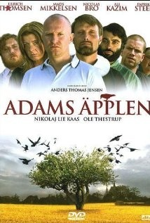 Adams æbler, Adams äpplen, 2005, A neo-nazi sentenced to community service at a church clashes with the blindly devotional priest.    Director:  Anders Thomas Jensen  Writer:  Anders Thomas Jensen  Stars:  Ulrich Thomsen, Mads Mikkelsen and Nicolas Bro