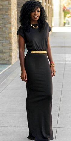 Cuffed T-Shirt Maxi Dress