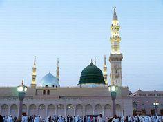 Bahar-e-Durood O Salam: Gumbad-e-Khazra / Masjid-e-Nabawi Al Masjid An Nabawi, Medina Mosque, Islamic Posters, Jumma Mubarak, Madina, Allah, Muslim, Taj Mahal, Lipsticks