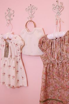 dress-up clothes or sentimental dresses on display