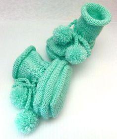 Baby Bootie Boots Elevator Booties Knit Slipper Boots - Custom Orders (14.00 USD) by LaraineRoseHandiWorx