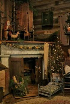 Fantastic Cost-Free Primitive Decor fireplace Style Whenever this older higher education good friend strolled within the home a decade in the past, her experience. Primitive Christmas Decorating, Primitive Country Christmas, Primitive Santa, Cabin Christmas, Merry Christmas, Christmas Fireplace, Christmas Mantels, Antique Christmas, Rustic Christmas