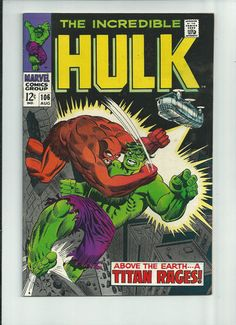 INCREDIBLE HULK #106 Silver Age gem featuring Nick Fury & SHIELD! GRADE 8.0 http://r.ebay.com/5vAZwR