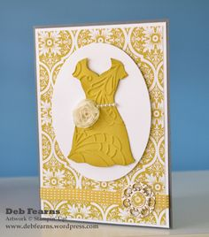 Dress... Classic card design for several occasions.