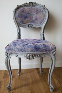 SOLD- Lavender Baroque Georgian Chair on Etsy, $250.00