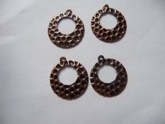 Drops Charms Antique Copper Dangle 12mm Pkg by DarsJewelrySupplies
