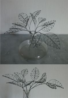 Objects son of iron sculptures and objects: plant