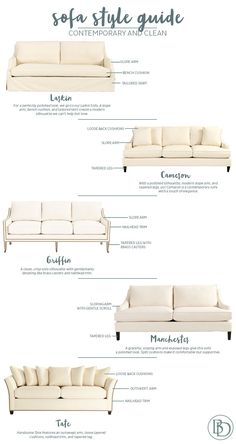 REBECCAAAA THIS WHOLE SITE TOO!! XD Contemporary sofa styles from Ballard Designs