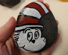 The Cat in the Hat by Dr. Seuss. Painted Rocks. #DBRLRocks
