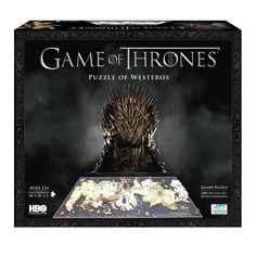 4D Cityscape now introduces the official puzzle guide for Game of Thrones, based on the award winning HBO television series. This puzzle will guide players through the assembly of the map of Westeros in a patented multi-layer design.