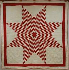 Sanderson Star Quilt | Welsh/Wholecloth Quilts | Pinterest | Star ... : red star quilt - Adamdwight.com