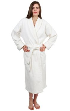 57e4ae3305 TowelSelections Turkish Terry Bathrobe - Shawl Collar Terry Cloth Robe for  Women and Men