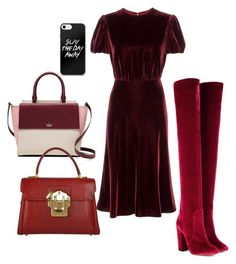 """""""Sleigh The Day Away..."""" by la-harrell-styling-co on Polyvore featuring Valentino, Aquazzura, Kate Spade and Dolce&Gabbana"""