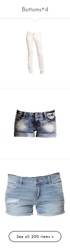 """""""Bottoms#4"""" by brittany-eldredge on Polyvore featuring jeans, pants, bottoms, pantalones, calças, white jeans, sexy skinny jeans, sexy jeans, sexy white jeans and white skinny jeans"""