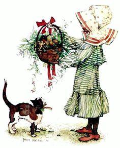 Risultato immagine per holly hobbie christmas images Vintage Christmas Cards, Christmas Pictures, Christmas Art, Vintage Cards, Holly Hobbie, Vintage Illustration, Vintage Children, Paper Dolls, Decoupage