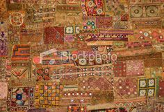 Indian Tapestry - patchwork Royalty Free Stock Photo