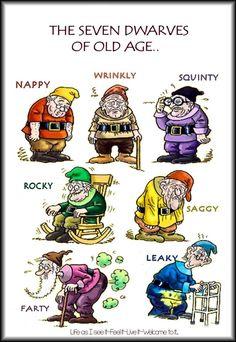 7 dwarfs of old age