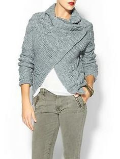 NEED THIS. Reminds me of Katniss' in Catching Fire Sabine Asymmetrical Cardi | Piperlime