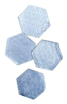 Metallic Leather Hexagon Coasters
