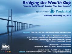 February 2012 - Prudential Sponsored Networking Event on Bridging the Wealth Gap