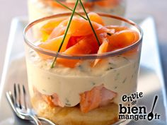 Tiramisu Aux Deux Saumons et Ciboulette Recette Facile Keto Recipes, Cooking Recipes, Pancake Recipes, Yummy Food, Tasty, Snacks Für Party, Chefs, Finger Foods, Food Inspiration