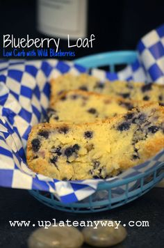 Blueberry Loaf from Elizabeth @ Up Late Anyway #lowcarb recipes. Shared via http://facebook.com/lowcarbzen
