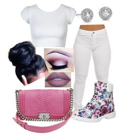 """""""#395"""" by o0dejah0o on Polyvore featuring Timberland, Chanel, Blue Nile, Lumière, adidas Originals, women's clothing, women, female, woman and misses"""