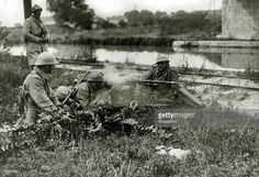 French machine gun 'nest' beside a canal