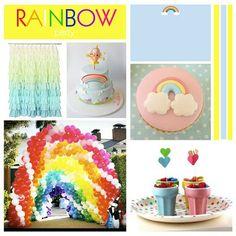 girly rainbow board