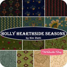 Holly Hearthside Seasons Fat Quarter Bundle Kim Diehl for Henry Glass Fabrics