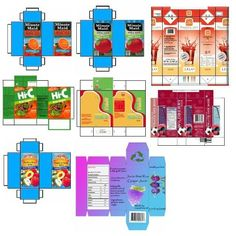juice box label template for american girl dolls - Google Search