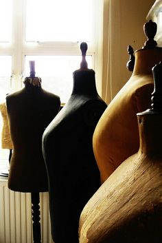 a corner of my workroom by Corset Laced Mannequins,