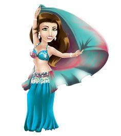 Mascote da bailarina de Dança do Ventre Najla el Fareeda no Central Dança do Ventre! http://www.centraldancadoventre.com.br/mascotes
