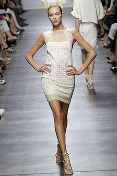 Alessandro Dell'Acqua Spring 2008 Ready-to-Wear Fashion Show - Anja Rubik