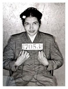 "Rosa Parks changed the world because she didn't give up her seat and would not get off of the bus, she went to jail. She kind of showed them that white people and black people were equal with some of the help of Martin Luther King Jr. She was called ""the mother of the modern day civil rights movement, """