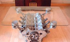 Some days I think I just need to build myself a man cave with no men allowed.  :) v8 engine table!