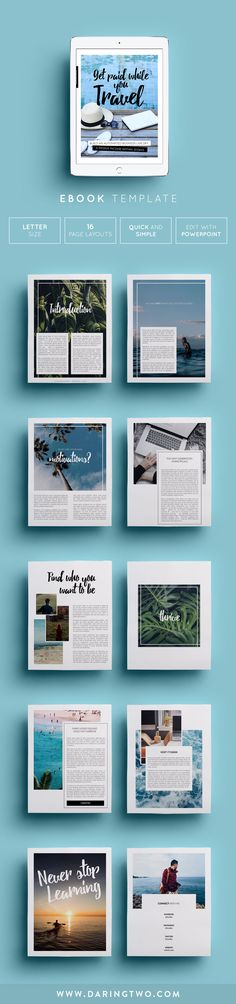 V4 Ebook Template // 16 Pages • Fully Editable + Customizable ...
