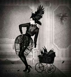 Bird cage skirt