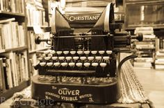 old typewriter in a local bookshop