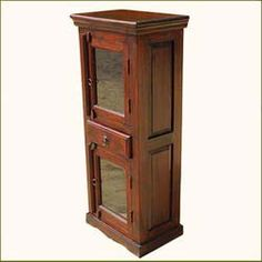 Solid Wood Armoire Storage Cabinet Furniture
