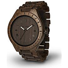 Buy LAiMER Men's Wooden Watch Black Edition - Wrist Watch Made of Natural Sandalwood - Nature & Lifestyle for Mens Wooden Watches For Men, Fossil Watches For Men, Mens Watches Leather, Luxury Watches For Men, Vintage Watches, Wrist Watches, Men's Watches, Black Edition, Fashion Watches