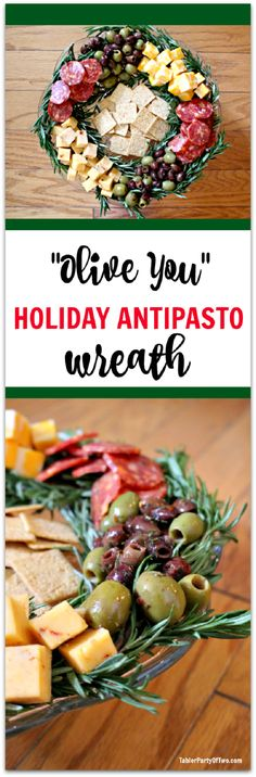 Holiday Antipasto Wreath - 19 Entertaining Christmas Food Ideas for The Big Holiday Dinner Gathering