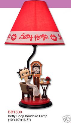 *BETTY BOOP ~ Boudoire Lamp Statue Figurine Decor BB1800 | eBay - oh, I love this!