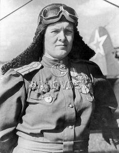 Yevdokia Bershanskaya (Russian: Евдоки́я Давы́довна Бочаро́ва) (Voluntary Stavropol, February 6, 1913 – September 16, 1982 in Moscow) was a Soviet pilot in World War II and second in command of the 46th Taman Guards Night Bomber Aviation Regiment. In 1941, Marina Raskova formed three women's regiments. As an experienced pilot, Bershanskaya became the leader of the 588th Night Bomber Regiment, an all women's regiment that flew Polikarpov Po-2 biplanes.