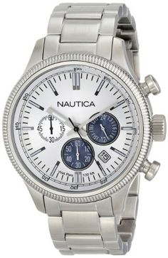 Nautica Mens N20115G Analog Display Quartz Silver Watch * Read more reviews of the product by visiting the link on the image.(This is an Amazon affiliate link)